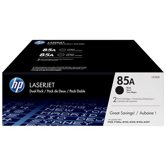 Toner imprimante HP 85A - CE285AD Noir Pack Duo