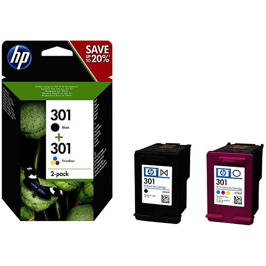 Cartouche imprimante HP Combo Pack n°301 (N9J72AE) - Cartouche d'encre