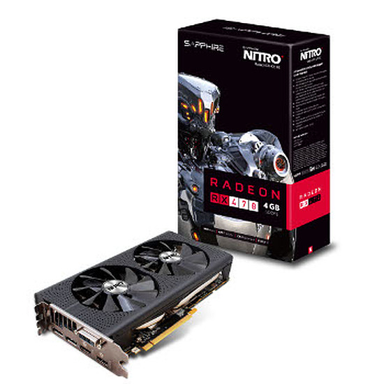 Carte graphique Sapphire Radeon RX 470 Nitro+ OC - 4 Go