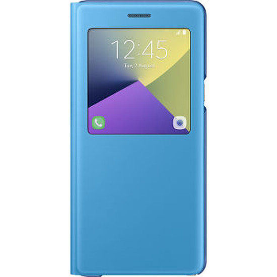 Coque et housse Samsung Etui S View cover (bleu) - Galaxy Note7