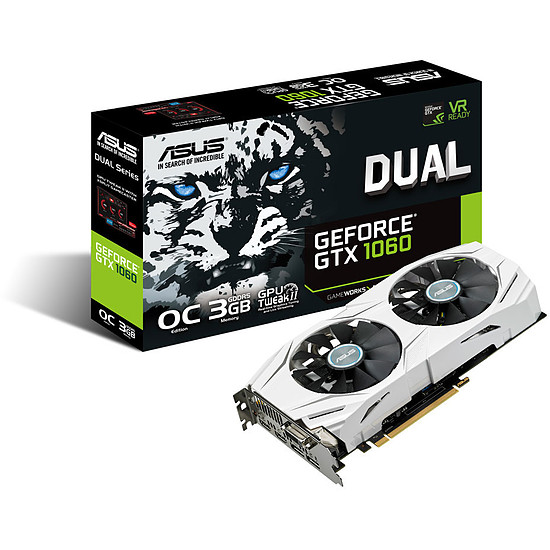 Carte graphique Asus GeForce GTX 1060 Dual OC - 3 Go
