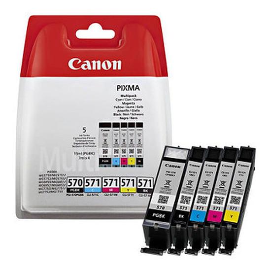 Cartouche imprimante Canon PGI-570/CLI-571 Multipack (C/M/J/N)