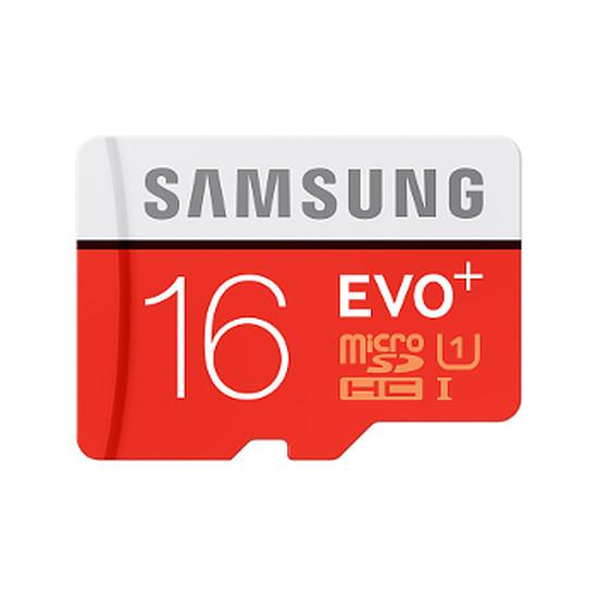 Carte mémoire Samsung Evo Plus Micro SDHC 16 Go (80Mo/s)