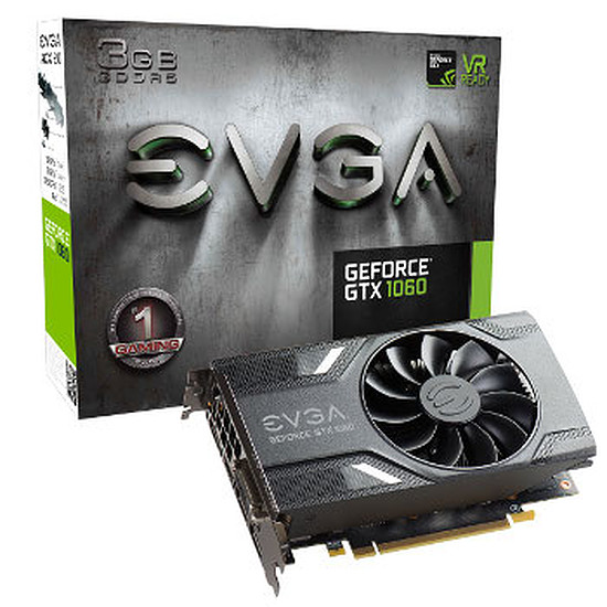 Carte graphique EVGA GeForce GTX 1060 Gaming - 3 Go