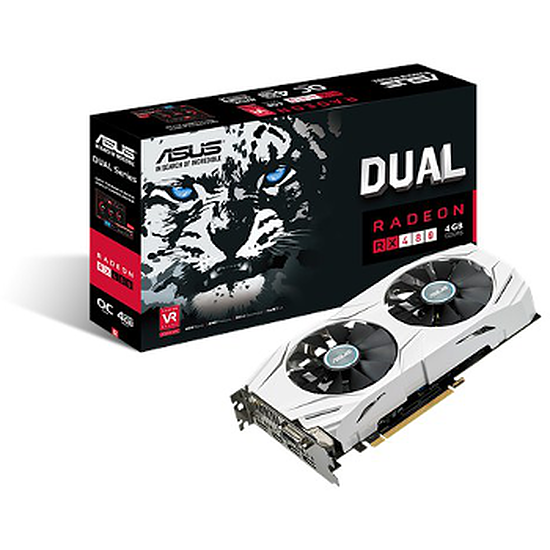 Carte graphique Asus Radeon RX 480 Dual OC - 4 Go