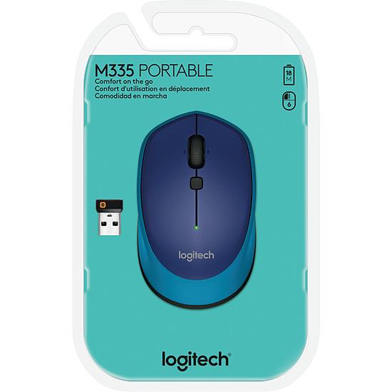 Souris PC Logitech M335 - Bleu - Autre vue