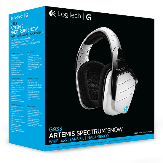 Casque micro Logitech G933 Artemis Spectrum - Blanc - Autre vue