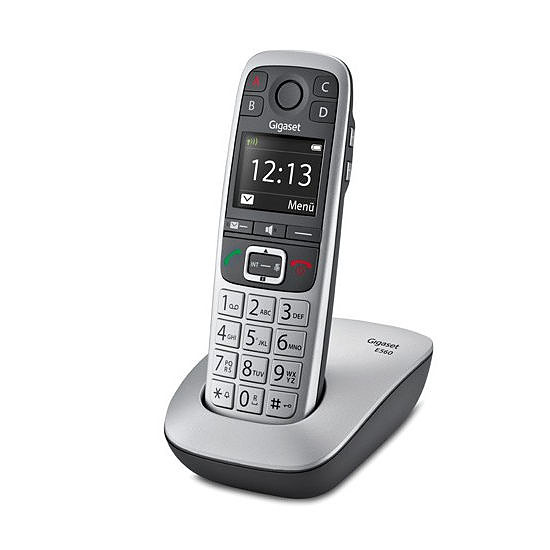 Téléphone fixe sans fil Gigaset E560 (argent) - Autre vue