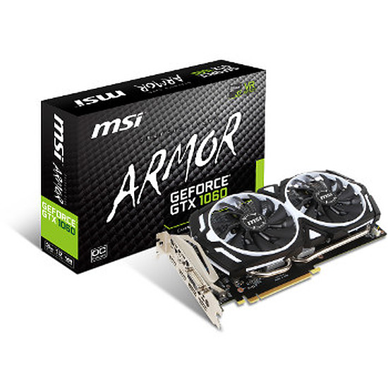 Carte graphique MSI GeForce GTX 1060 Armor OC V1 - 3 Go