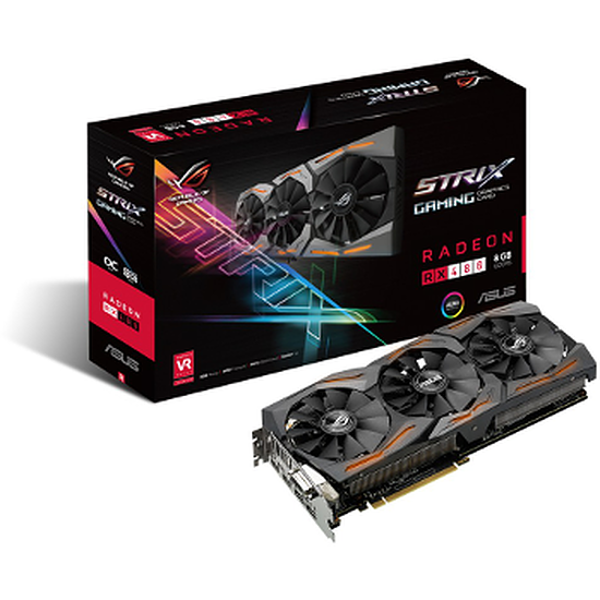 Carte graphique Asus Radeon RX 480 STRIX OC Gaming - 8 Go