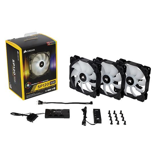 Ventilateur Boîtier Corsair SP120 RGB LED High Performance Pack de 3 - Autre vue