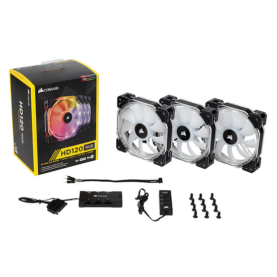 Ventilateur Boîtier Corsair HD120 RGB LED High Performance PWM Pack de 3 - Autre vue