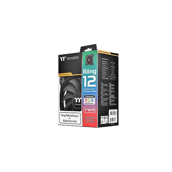 Ventilateur Boîtier Thermaltake Pack de 3 Riing 12 RGB LED TT PREMIUM - Autre vue