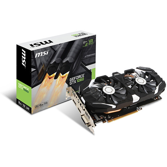 Carte graphique MSI GeForce GTX 1060 6GT OC V1 - 6 Go