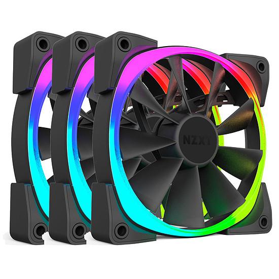 Ventilateur Boîtier NZXT Pack de 3 Aer RGB 120 mm