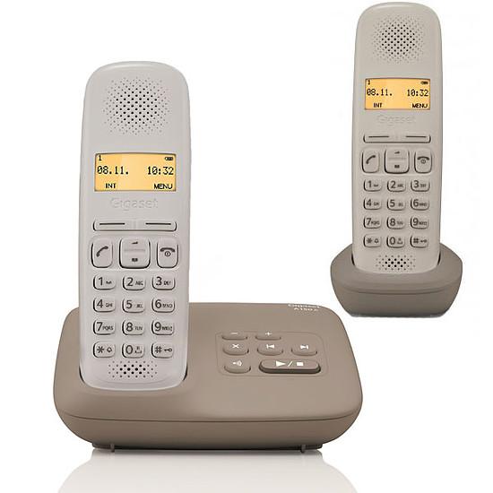 Téléphone fixe sans fil Gigaset A150A Duo (umbra taupe)