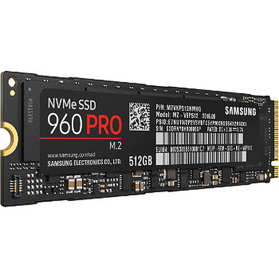 Disque SSD Samsung Serie 960 PRO M.2 PCIe NVMe - 512 Go