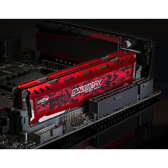Mémoire Ballistix Sport LT RED DDR4 4 Go 2400 MHz CAS 16 SR - Autre vue