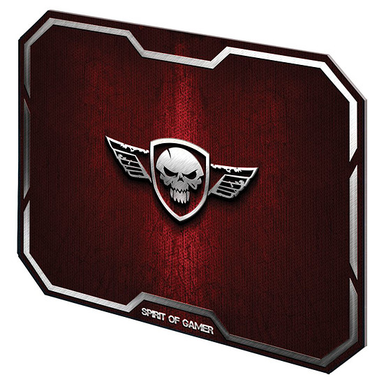 Tapis de souris Spirit Of Gamer Winged Skull - Rouge