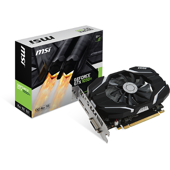 Carte graphique MSI GeForce GTX 1050 Ti OC - 4 Go