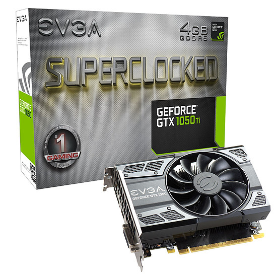 Carte graphique EVGA GeForce GTX 1050 Ti SC Gaming - 4 Go