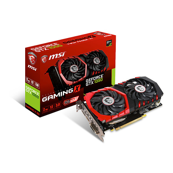 Carte graphique MSI GeForce GTX 1050 Gaming X - 2 Go