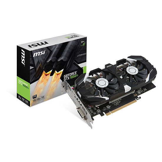 Carte graphique MSI GeForce GTX 1050 Ti 4GT OC - 4 Go