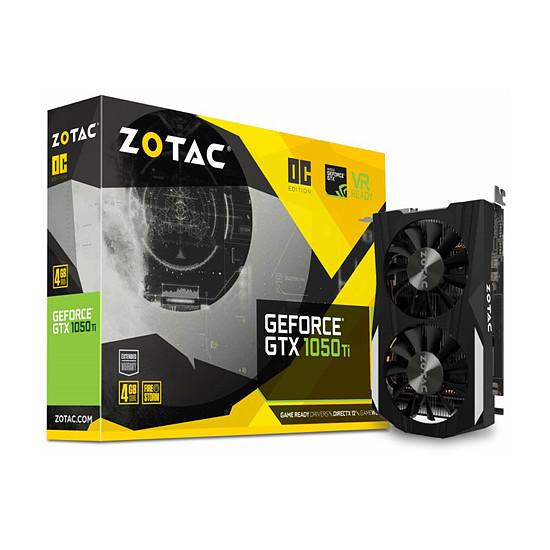 Carte graphique Zotac GeForce GTX 1050 Ti OC - 4 Go
