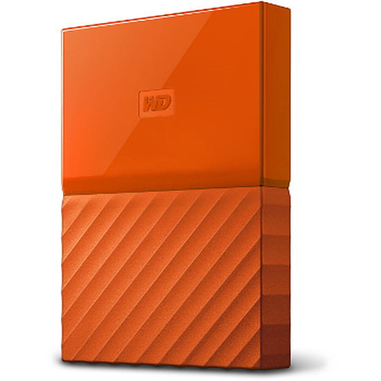 Disque dur externe Western Digital (WD) My Passport USB 3.0 - 4 To (orange)
