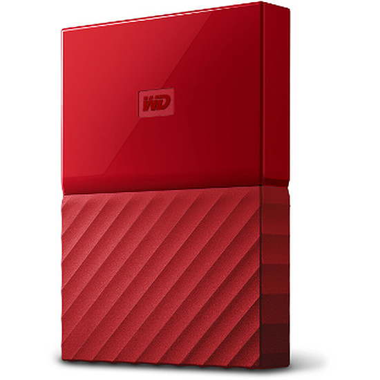 Disque dur externe Western Digital (WD) My Passport USB 3.0 - 2 To (rouge)
