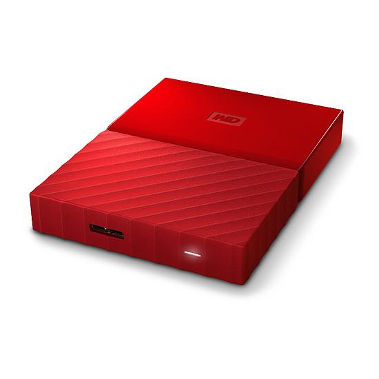 Disque dur externe Western Digital (WD) My Passport USB 3.0 - 1 To (rouge) - Autre vue