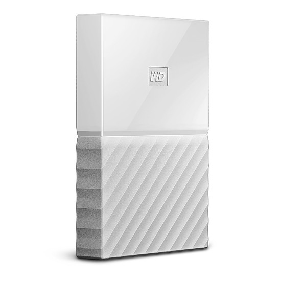 Disque dur externe Western Digital (WD) My Passport USB 3.0 - 1 To (blanc) - Autre vue