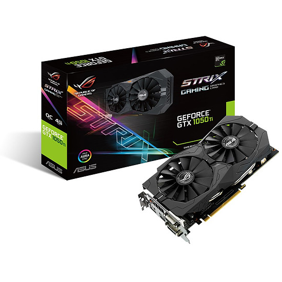 Carte graphique Asus GeForce GTX 1050 Ti STRIX OC - 4 Go