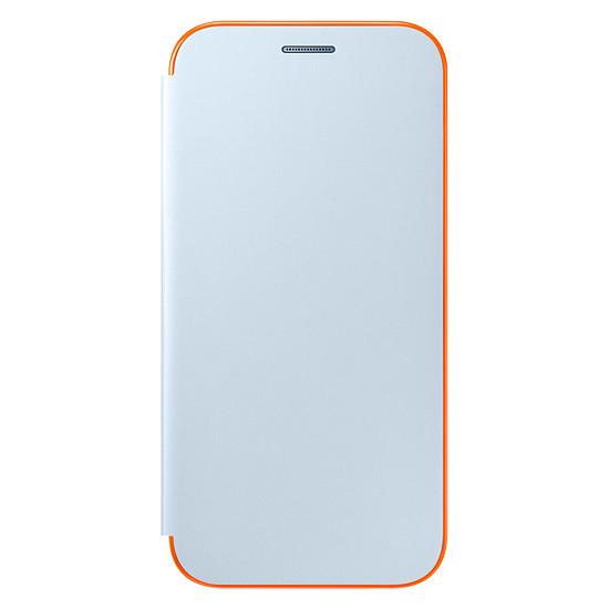 Coque et housse Samsung Etui Flip neon (bleu) - Galaxy A3 2017