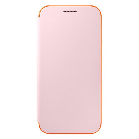 Coque et housse Samsung Etui Flip neon (rose) - Galaxy A3 2017