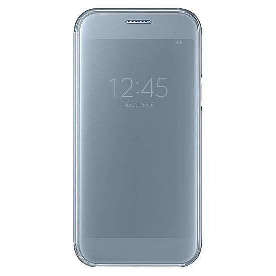 Coque et housse Samsung Etui Clear View Cover (bleu) - Galaxy A5 2017