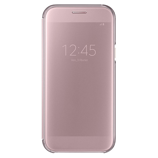 Coque et housse Samsung Etui Clear View Cover (rose) - Galaxy A5 2017