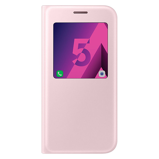 Coque et housse Samsung Etui S View Cover (rose) - Galaxy A5 2017