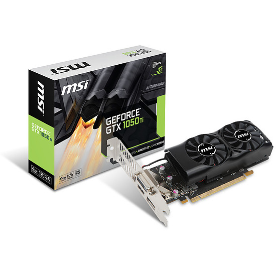 Carte graphique MSI GeForce GTX 1050 Ti 4GT LP - 4 Go