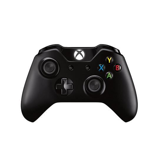 Manette de jeu Microsoft Xbox One - Noir + Câble 2,75 m - Autre vue