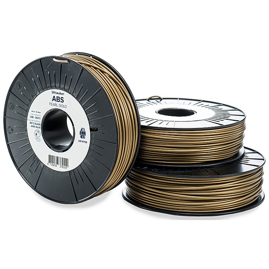 Filament 3D Ultimaker ABS Or - 2.85 mm - 750 g