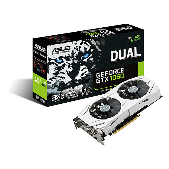 Carte graphique Asus GeForce GTX 1060 Dual - 3 Go