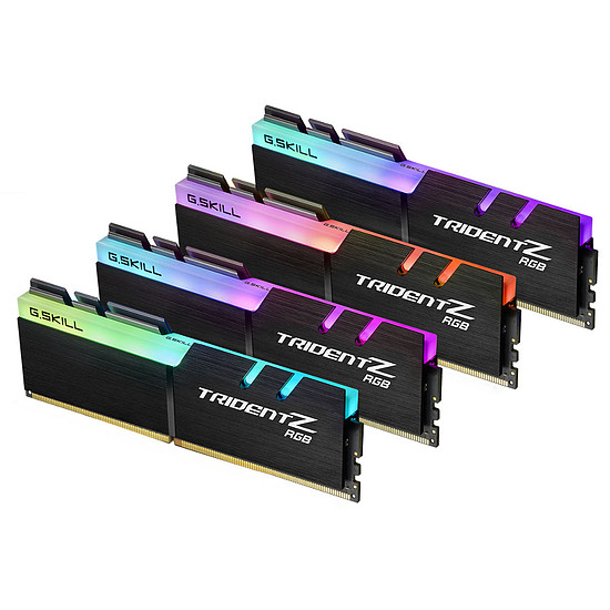 Mémoire G.Skill Trident Z RGB DDR4 4 x 8 Go 3000 MHz CAS 16