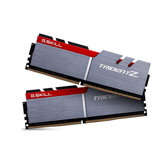 Mémoire G.Skill Trident Z Silver / Red DDR4 2 x 8 Go 3200 MHz CAS 14
