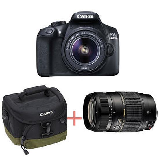 Appareil photo Reflex Canon EOS 1300D +18-55 IS + Tamron 70-300 + Sacoche