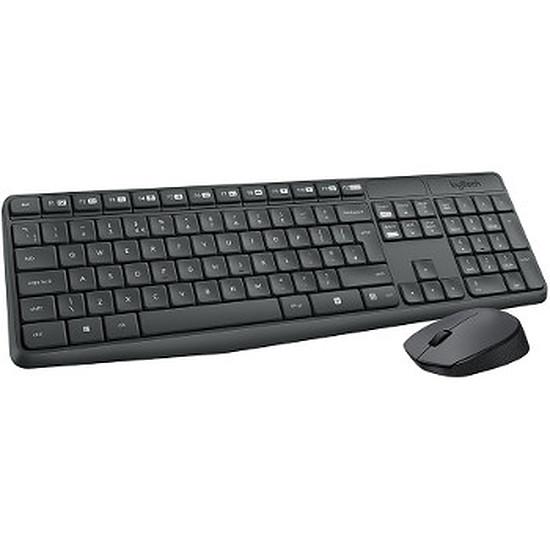 Pack clavier-souris bureautique Logitech MK235