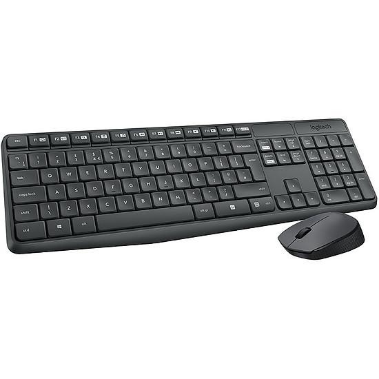 Pack clavier-souris bureautique Logitech MK235 - Autre vue
