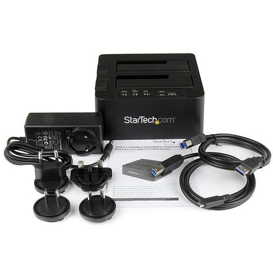 Dock pour disque dur StarTech.com Duplicateur 2 disques durs USB 3.1 avec UASP - Autre vue