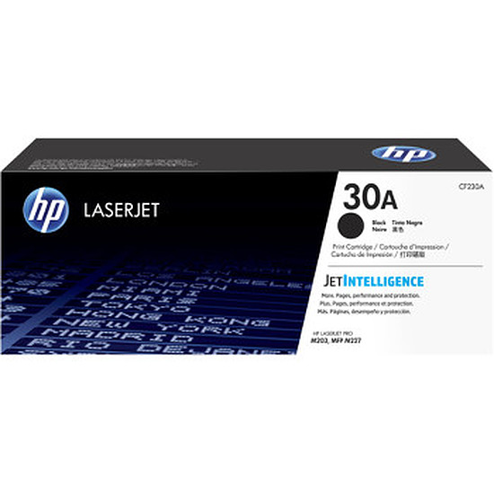 Toner imprimante HP 30A - CF230A Noir