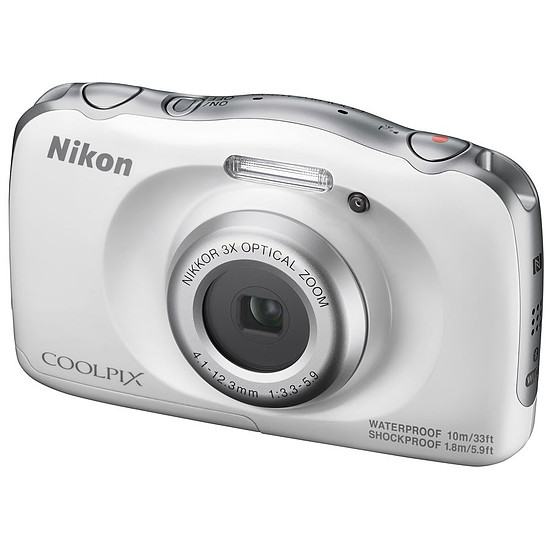 Appareil photo compact ou bridge Nikon Coolpix W100 Blanc